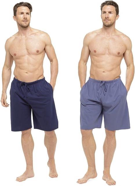 TALLA M. Tom Franks Pack Doble Algodón De Jersey Pantalones De Estar Por Casa