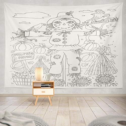 Hdmly Halloween Pumpkin Tapestry Wall Hanging Decor, Decorative