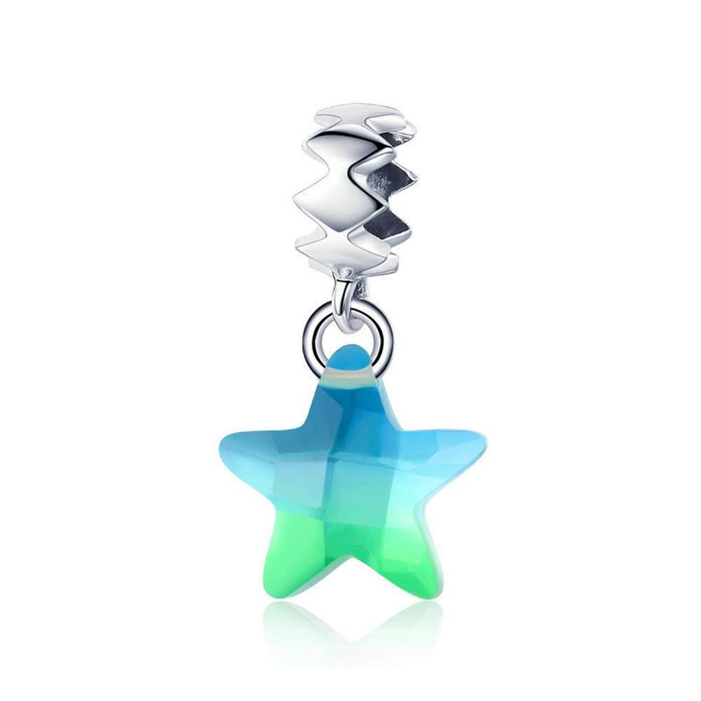 Reiko Étoile 925 Argent Charms Bricolage Perles Pour Filles, Cadeau De Noël Pour Femme Fille, Coffrets Cadeaux, Sans Nickel Cadeau De Noël Pour Femme Fille