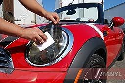 Rshield Headlight Protection Film Covers for Chrysler Crossfire 2004-2008 - Chameleon Smoke