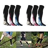 3 Pair Sport Compression Socks for Men Women, 20-30 mmHg Best Graduated Athletic Compression Stockings for Running, Nurses, Shin Splints, Maternity Pregnancy, Gym, Yoga, Recovery, Flight Travel (L/XL)