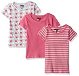 Kyпить Limited Too Toddler Girls' 3 Piece Short Sleeve Tee Stripe and Solid Pack, Multi Print, 4T на Amazon.com