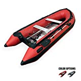 Seamax Ocean380 12.5 Feet Heavy Duty Inflatable Boat, Hot Welded Chamber Seam, Aluminum Floor, 5+1 Chambers, V Bottom, Reinforced Transom, Max 5 Passengers and 25HP Rated