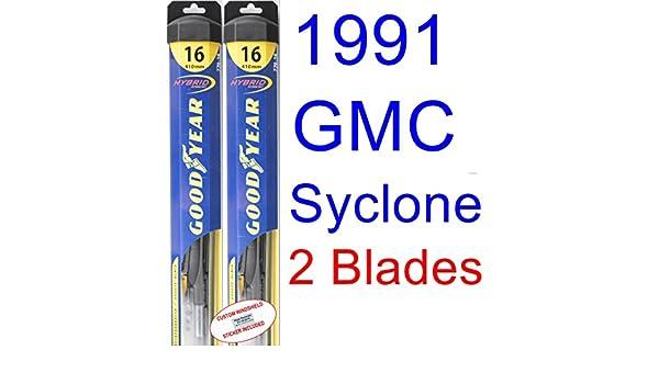 1991 GMC Syclone hoja de limpiaparabrisas de repuesto Set/Kit (Goodyear limpiaparabrisas blades-hybrid): Amazon.es: Coche y moto