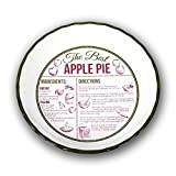 DEI Stoneware Recipe Pie Plate Dish - Pumpkin Pie and Apple Pie - Sold Seperately (Green)
