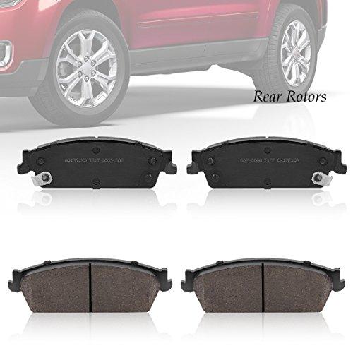 Rear Ceramic Brake Pads, Low-Dust Quiet Brake Pad Set for Chevrolet Tahoe Avalanche Silverado 1500, Chevrolet Suburban 2007-2013, GMC 1500 Sierra Yukon 2007-2013, Cadillac Escalade (Denali Brake Pad)