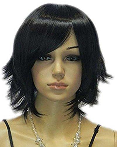 (Tsnomore Black Color Bob Women Synthetic Wig (Side)