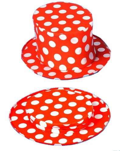Forum Collapsible Polka Dot Top Hat -