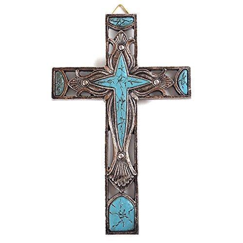 Wall Cross Turquoise (8