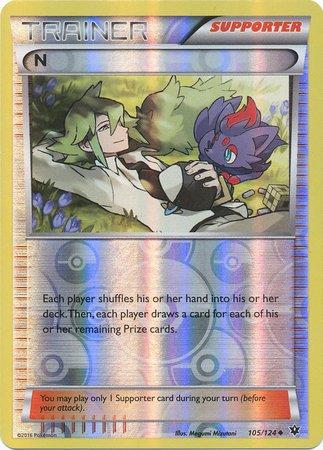 Pokemon - N (105/124) - XY Fates Collide - Reverse Holo