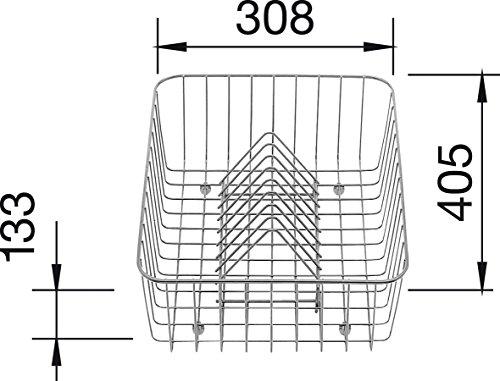 (Blanco 507-829 Crockery Basket, Satinless Steel)