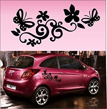 X Butterfly Flower Vinyl Car GraphicsStickersDecals Each - Vinyl decals for cars uk