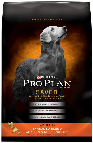 Purina Pro Plan Dry Adult 7+ Dog Food, Shredded Blend Chicken and Rice Formula, 6-Pound Bag, My Pet Supplies