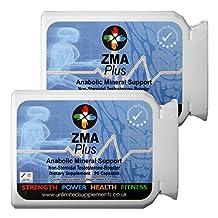 ZMA PLUS 180 caps 1000mg of pure Product - Advanced Anabolic Mineral Support. Magnesium Asparatate, Zinc, Vitamin B6.