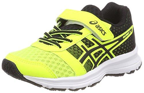 Asics Patriot 9 PS, Zapatillas de Running Para Niños Multicolor (Safety Yellow/black/white 0790)