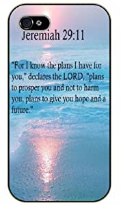 iPhone 5C Bible Verse - Sea. For I know the plans I have for you. Declares the Lord. Jeremiah 29:11 - black plastic case / Verses, Inspirational and Motivational