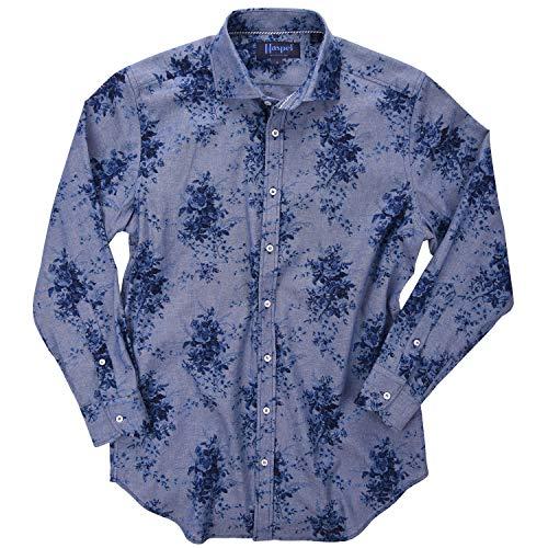 (Haspel Long Sleeve Shirt - Carroll Indigo Floral)