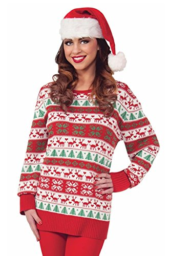 Winter Wonderland Costumes For Women (Christmas Santa Winter Wonderland Sweater Adult Costume (XX-Large))