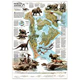 Dinosaurs of North America Map Poster 22 x 32in by National Geographic Maps