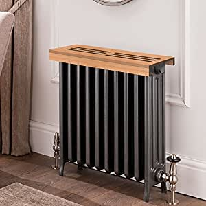 unfinished cherry wooden radiator cover shelf. Black Bedroom Furniture Sets. Home Design Ideas
