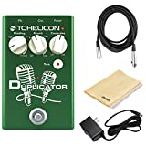 TC Helicon Duplicator Vocal Effects Pedal Bundle with 20' XLR Cable, 9V Power Supply, and Dunlop Polishing Cloth