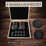 Valporia Gifts for Men Whiskey Glasses & Whiskey