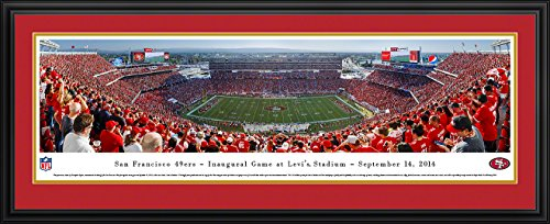 San Francisco 49ers - Inaugural Game at Levi's Stadium - Blakeway Panoramas NFL Posters with Deluxe Frame