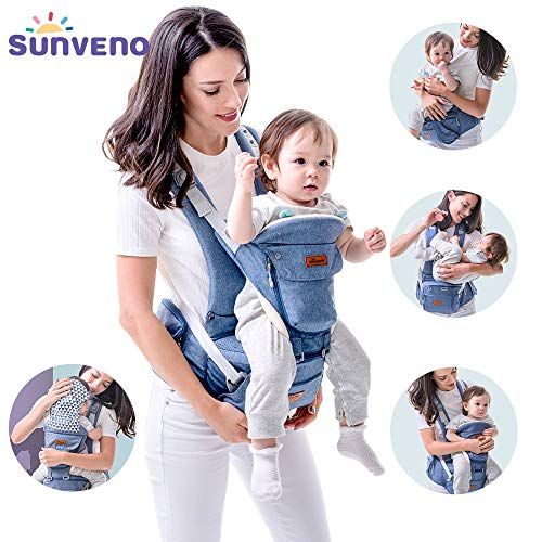 SUNVENO Baby HIPSEAT Carrier Ergonomic Baby Carrier 3in1 Baby Hip seat Waist Stool for Outdoor Travel(Blue)