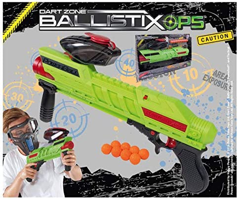11 DartZone Ballistix OPS Powerball Blaster mit Munition