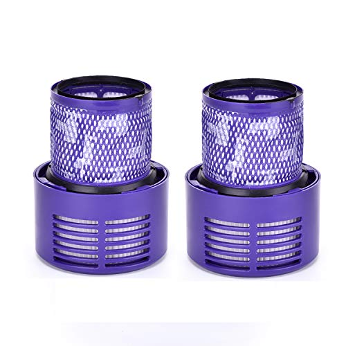 Techypro 2-Pack Dyson V10 Filters Replacement Part Compatible with Dyson Cyclone V10 Animal/Absolute/Motorhead/Total Clean, Compare to Part # 969082-01 ()