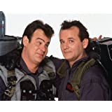 Bill Murray and Dan Aykroyd in Ghostbusters posing together in costumes 11x14 Promotional Photograph