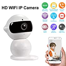 WIFI IP Camera HK-A6, Mini Robot Home Security Surveillance WiFi Camera & HD Camcorder with Microphone for Baby Video Monitoring