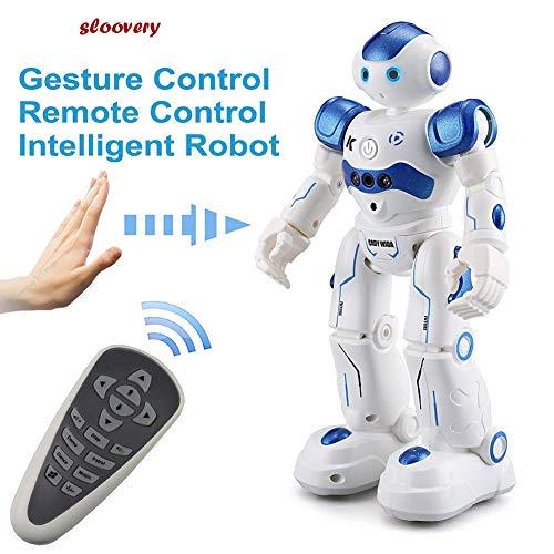 ラジコンロボ ロボエース ロボットおもちゃ ダンス歌おもちゃ 男の子女の子子供の電気インタラクティブロボットおもちゃ (青)