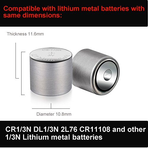 1/3N Battery for Laser Sight/ Dog Collar 7 Years Warranty 170mAh 3V Lithium Battery Same as CR1/3N DL1/3N K58L 2L76 6 Count CELEWELL Brand