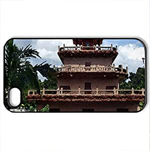 Beautiful Building - Case Cover for iPhone 4 and 4s (Monuments Series, Watercolor style, Black)