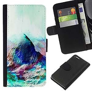 All Phone Most Case / Oferta Especial Cáscara Funda de cuero Monedero Cubierta de proteccion Caso / Wallet Case for Apple Iphone 5C // Geometry Psychedelic Mountain
