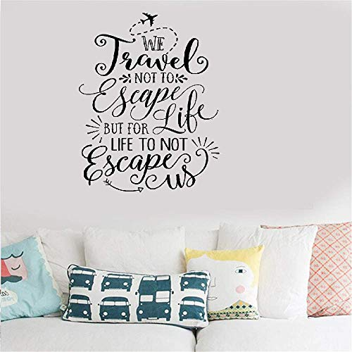 (Wall Sticker Lettering Quotes and Saying Travel Quote We Travel Not to Escape But for Life Life Do Not Escape Us Inspiration)