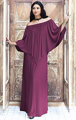 Purple Dress Plum Strapless Gown Shoulderless Flattering Cocktail KOH Dark Maxi KOH nx0wqOFv6x