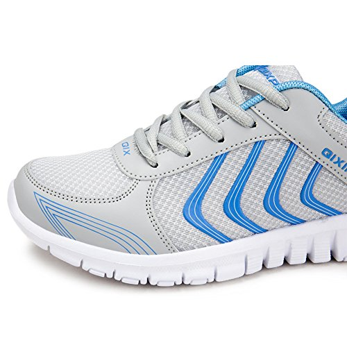 Breathable Sneakers US10 Lightweight Women's 5 US4 Walking jiasha Running Athletic 5 Gray BfEUqTxY