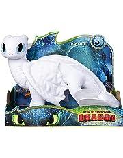 Dreamworks Dragons 6052953 - Movie Line - Deluxe - Pluche Figuren, Enorme Pluche Figuur, Hoe Tem Je Een Draak 3, De Geheime Wereld, Wit, 12.7 x 35.56 x 30.48 cm