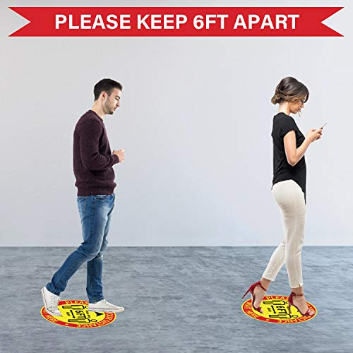Social Distancing Floor Decal Stickers - 15 Pack 12\