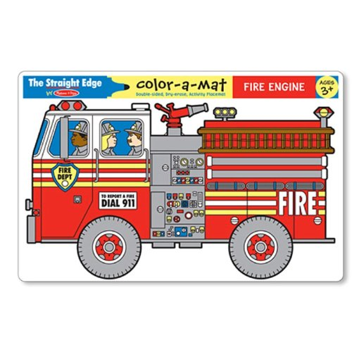 Melissa & Doug Color-A-Mat Fire Engine