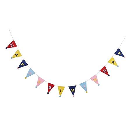 D DOLITY Feliz Cumpleaños Sombrero Triángulo Banderín ...