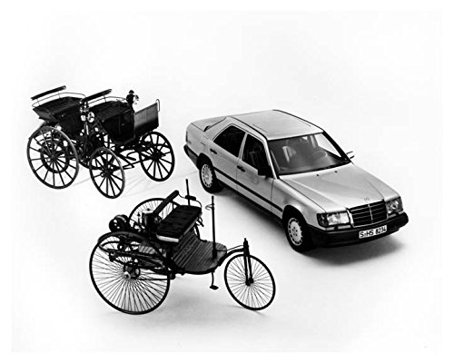 1986-mercedes-benz-300e-1886-benz-3wheeler-daimler-4wheeler-factory-photo