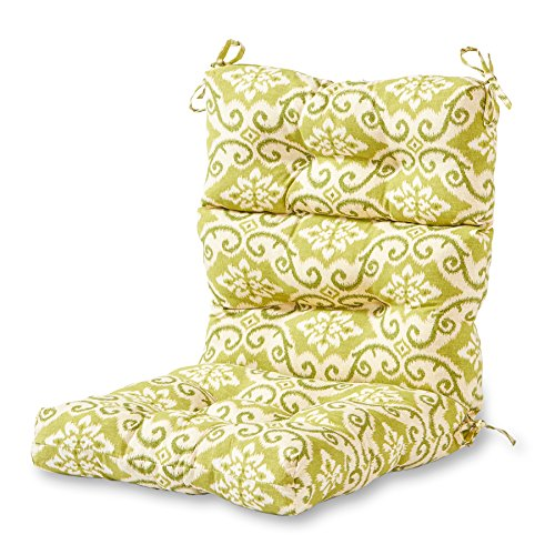 Greendale Home Fashions Indoor/Outdoor High Back Chair Cushion, Shoreham (Pit With Martha Stewart Patio Fire Furniture)