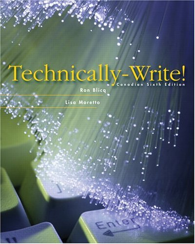 Technically Write !Sixth Canadian Edition