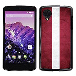 Shell-Star ( National Flag Series-Latvia ) Snap On Hard Protective Case For LG Google NEXUS 5 / E980