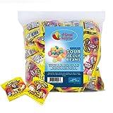Sour Jelly Beans - Warheads Sour Jellybeans , Fun Size Bags , Bulk , 3 LB