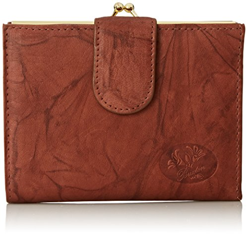 Buxton Heiress Double Cardex Wallet, Mahogany, One - Wallets Ladies Buxton