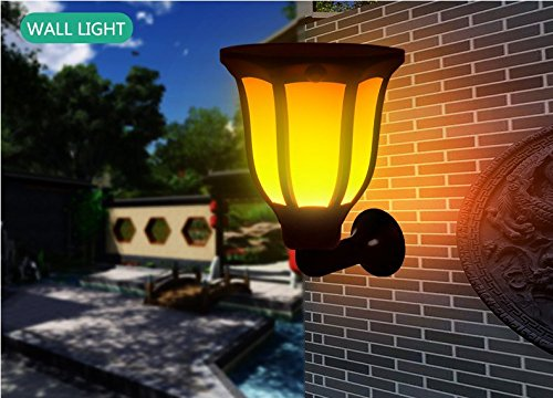 Solar Torch Light with Flickering Flame-Sunklly Waterproof Solar Post Lighting Landscape Decoration Solar Post Light for Garden Patio Yard Driveway (1 Pack)